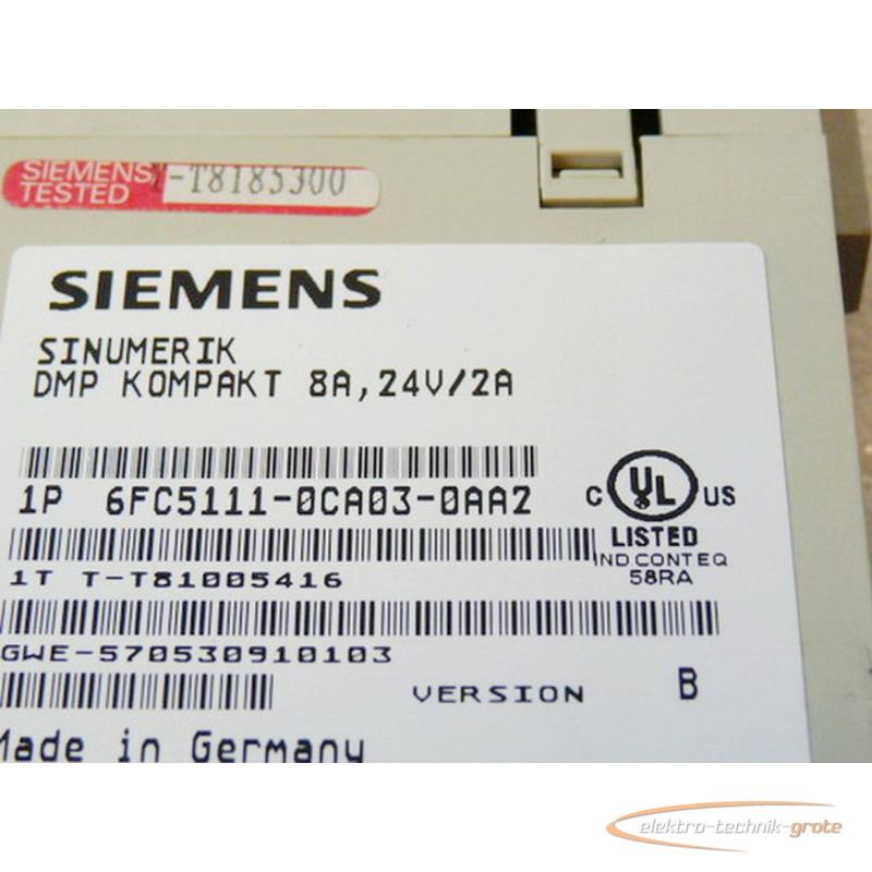 Siemens Sinumerik DMP compacto 6fc5111-0ca03-0aa2