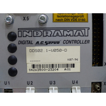 Indramat DDS02.1-W050-D Controller SN:263500-23204